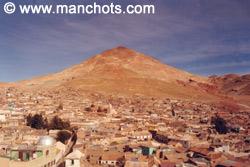 La ville et le Cerro Rico (les mines) - Potosi (Bolivie)