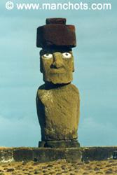 Moai avec ses yeux - Ahu Ko Te Riku (île de Pâques)