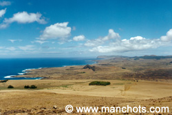 Vue sur l'île depuis le volcan Poike (île de Pâques)