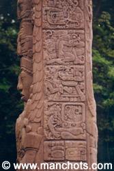 Détail d'une stéle - Quirigua (Guatemala)
