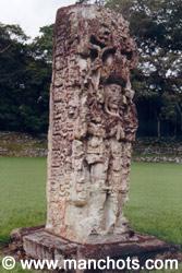 Stéle - Copan (Honduras)