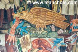 Symbole du Mexique peint par Diego Rivera - Mexico (Mexique)